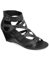 Xoxo Sarelia Wedge Sandals Women's Shoes Black