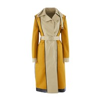 Proenza Schouler Reversible Trench Coat 10938 Khaki Gold