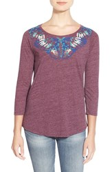 Women's Lucky Brand Painterly Butterfly Print Tee