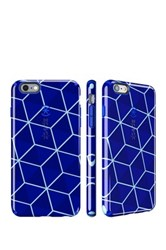 Speck Iphone 6 6S Plus Cube Blue Raincoat Blue Inked Stacked Candyshell No Color