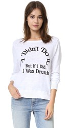 Wildfox Couture Wasn't Me Baggy Sweater Clean White