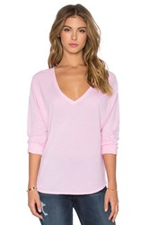 Splendid Vintage Whisper Long Sleeve V Neck Tee Blush