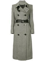 Petar Petrov Double Breasted Checked Coat Black