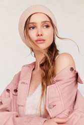Urban Outfitters Cozy Rib Knit Beanie Pink