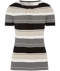 Cc Petite Pleat Neck Stripe Jersey Top Multi Coloured
