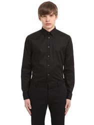 Eton Super Slim Fit Cotton Poplin Shirt Black
