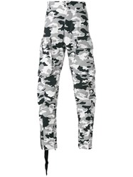Unravel Project Tapered Cargo Zip Leg Trousers Grey