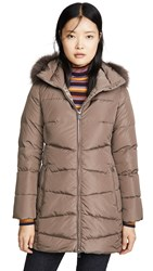 Add Down Coat With Detachable Fur Hood Castor