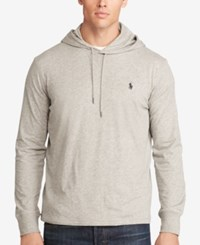 Polo Ralph Lauren Men's Big And Tall Featherweight Pima Hoodie Light Gray