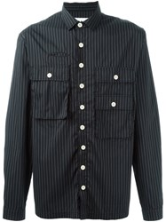 Sunnei Pinstripe Pocket Shirt Black