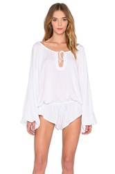 One Teaspoon Aloha Romper White