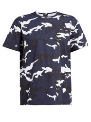 The Upside Marine Camouflage Print Cotton T Shirt Blue Print