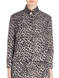 Creatures Of The Wind Jindra Leopard Jacket Black Gold