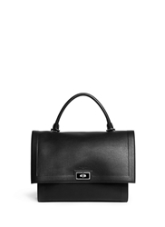 Givenchy 'Shark' Medium Turn Lock Flap Leather Bag