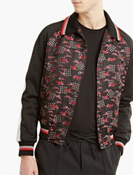 Lanvin Embroidered Silk Bomber Jacket Multi