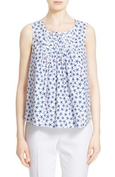 Women's Kate Spade New York Mini Starfish Print Sleeveless Poplin Top