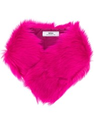 Desa 1972 Fur Stole Pink And Purple