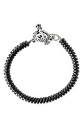 King Baby Studio Men's Hematite Bead Bracelet
