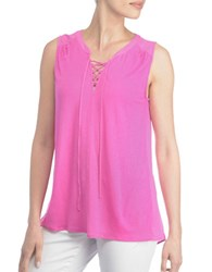 Nydj Lucia Lace Up Tank Top Pink