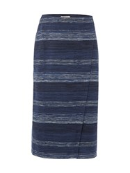 White Stuff Gradient Jersey Skirt Navy