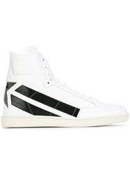 Saint Laurent 'Signature Court Classic' Star Hi Top Sneakers White