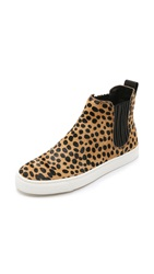 Loeffler Randall Crosby Haircalf Chelsea Sneakers Cheetah
