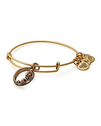 Alex And Ani Queen's Crown Expandable Wire Bangle Gold