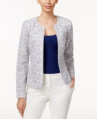 Tahari By Arthur S. Levine Tahari Asl Lace Jacket White Blue
