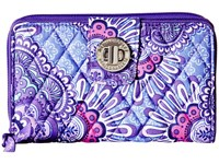 Vera Bradley Turn Lock Wallet Lilac Tapestry Clutch Handbags Purple