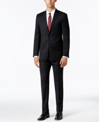 Calvin Klein Men's Extra Slim Fit Black And Gray Check Suit Grey