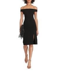 Polo Ralph Lauren Slim Fit Off The Shoulder Ponte Dress Black