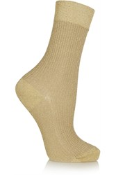 Maria La Rosa Metallic Stretch Knit Socks