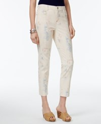 Style And Co Petite Printed Skinny Jeans Only At Macy's Pastel Sum