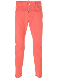 Dsquared2 'Tidy Biker' Jeans Pink And Purple
