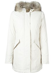 Woolrich Fur Trim Padded Parka White