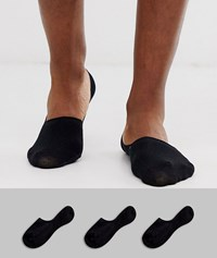 Selected Homme 3 Pack Invisible Socks In Black