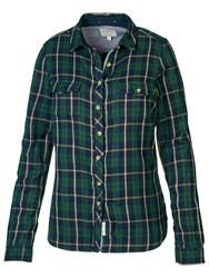 Fat Face Classic Fit Doubles Check Shirt Tap Green