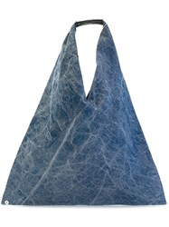 Maison Martin Margiela Mm6 Triangle Tote Blue