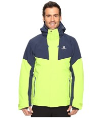 Salomon Icerocket Jacket Granny Green Big Blue X Men's Coat Yellow