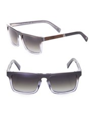 Shwood 52Mm Polarized Rectangle Sunglasses Grey