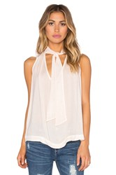 Free People Sleeveless Tie Front Top Peach