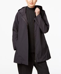 Eileen Fisher Hooded Anorak Jacket Charcoal