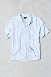 Cpo Dobby Ticking Short Sleeve Button Down Shirt Blue