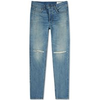 Rag And Bone Slim Distressed Jean Blue