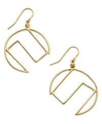 Sis By Simone I Smith 18K Gold Over Sterling Silver Earrings Crescent Drop Earrings