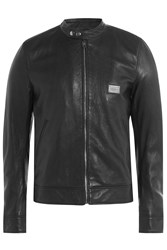 Dolce And Gabbana Leather Jacket Black