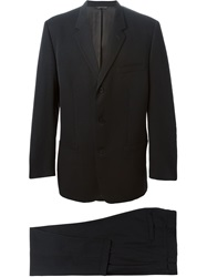 Versace Vintage Three Button Suit Black