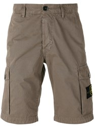 Stone Island Patch Pocket Shorts Brown
