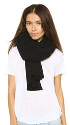 White Warren Cashmere Travel Wrap Scarf Black