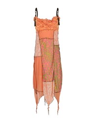 Tricot Chic 3 4 Length Dresses Orange